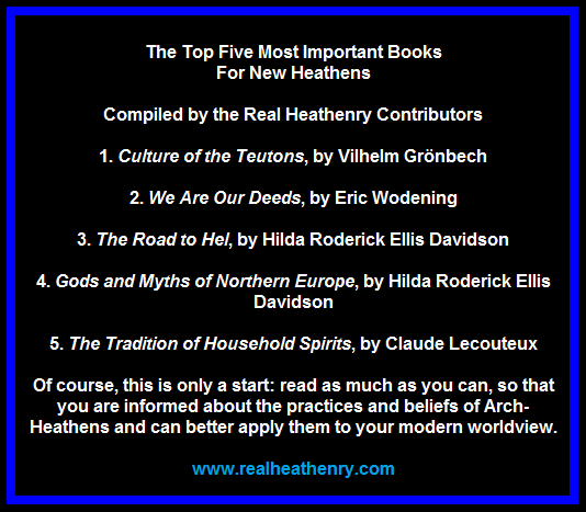 Top 5 books for new heathens
