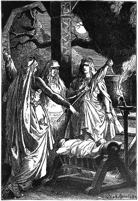 Die Nornen (1889) by Johannes Gehrts