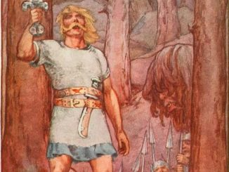 "Fame and reputation: Beowulf from ""A Book of Myths"""